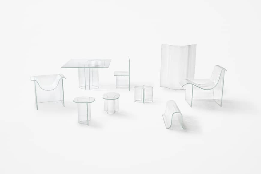 Nendo's Melt series of glass furniture